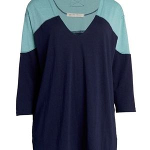 Free People Major Leagues T-Shirt Blue Teal NWT
